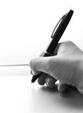 Digital Pen in the Hand. Stock Photo