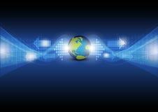 Digital-Pfeil mit globalem Lizenzfreies Stockfoto