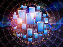 Digital Phone Technology Royalty Free Stock Images