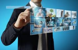 Digital photo album. Businessmen and Reaching images streaming, digital photo album Stock Images