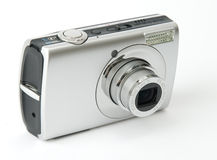 Digital photo camera. Small metal Digital photo camera stock images