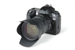 Digital photo camera. On white background royalty free stock images