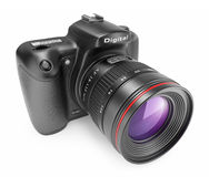 Digital photo camera. 3D Icon  Stock Photo
