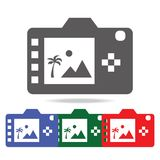 Digital photo camera back display icon. Elements of photo camera in multi colored icons. Premium quality graphic design icon. Simp. Le icon for websites, web Royalty Free Stock Photos