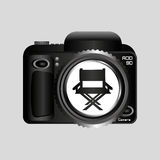 Digital photo camera director movie chair. Vector illustration eps 10 Royalty Free Stock Photos