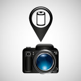 Digital photo camera negative roll. Vector illustration eps 10 Royalty Free Stock Photo