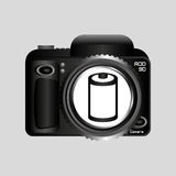 Digital photo camera negative roll. Vector illustration eps 10 Stock Photography