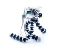 Digital Photo Camera On Tripod Stock Photos