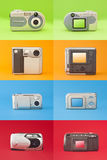 Digital photo camera set Royalty Free Stock Photography