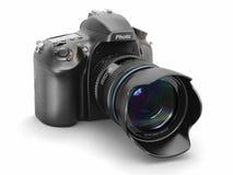 Digital photo camera on white  background. Stock Photography