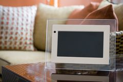 Digital Photo Frame Interior Stock Image