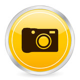 Digital photo yellow circle ic Stock Photography