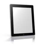 Digital Photoframe (blank). Touch screen graphics tablet PC. High quality. Isolated on white background with clipping path around empty screen & around device Stock Photo