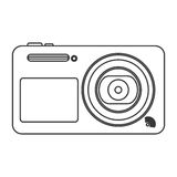 digital photographic camera icon line design stock illustration