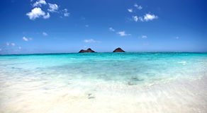 Digital Photography Background Of Lanikai Beach Kailua Hawaii Royalty Free Stock Images