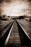 Digital Photography Background Of Vintage Train Tracks Royalty Free Stock Photography