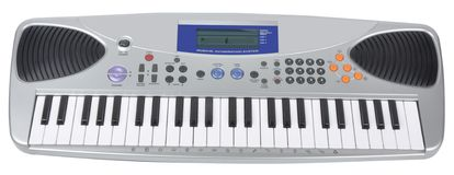 DIGITAL PIANO. A keyboard music in front view Royalty Free Stock Image