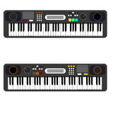 Digital piano with display iilustration. S Stock Images