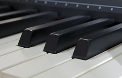 Digital piano keys Stock Photo