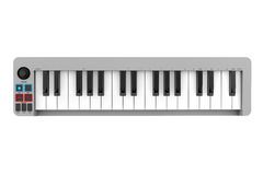 Digital Piano Synthesizer. 3d rendering. Digital Piano Synthesizer on a white background. 3d rendering Stock Photo