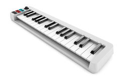 Digital Piano Synthesizer. 3d rendering Stock Photos