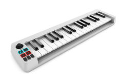 Digital Piano Synthesizer. 3d rendering Royalty Free Stock Images