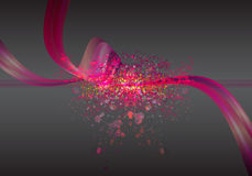 Digital pink Abstract on drak Vector Background Stock Photography