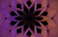 Digital pink abstract flower. Abstract digital pink abstract flower on black background wallpaper Stock Images