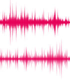 Digital pink equalizer Royalty Free Stock Images