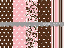 Digital patterns, scrapbook set Royalty Free Stock Images