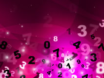 Digital Pink Represents High Tec And Mathematics. Pink Calculate Meaning High Tec And Count Royalty Free Stock Photos