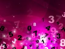Digital Pink Represents High Tec And Mathematics Royalty Free Stock Photos