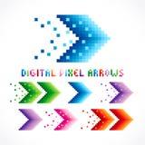 Digital pixel arrows. Royalty Free Stock Image