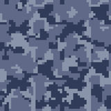 Digital pixel camouflage seamless pattern for your design. Royalty Free Stock Photos