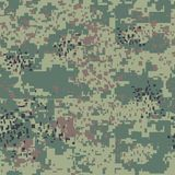 Digital pixel camouflage seamless pattern for your design. Vector Texture Royalty Free Stock Images