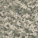 Digital pixel camouflage seamless pattern for your design. Vector Texture Royalty Free Stock Image