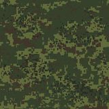 Digital pixel camouflage seamless pattern for your design. Vector Texture Stock Photo