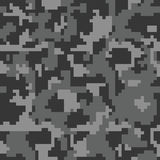 Digital pixel camouflage seamless pattern for your design. Royalty Free Stock Photo