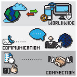Digital Pixel Communication Design Concept Royalty Free Stock Photo