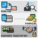 Digital Pixel Financial Design Concept Royalty Free Stock Photography