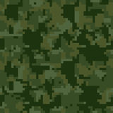 Digital pixel green camouflage seamless pattern for your design. Clothing military style. Royalty Free Stock Image