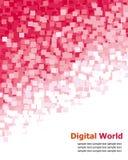 digital PIXELred för bakgrund royaltyfri illustrationer