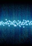 Digital pixels color display. Digital color pixels amplitude level display effect stock illustration