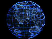 Digital planet telecommunications networks of global internet Royalty Free Stock Image
