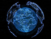 Digital planet telecommunications networks of global internet Stock Images
