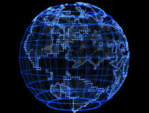 Digital planet telecommunications networks of internet Royalty Free Stock Image