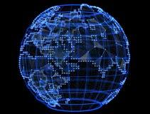 Digital planet telecommunications networks of internet Stock Photos