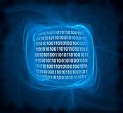 Digital-Plasma-Auszug, auf Schwarzem Lizenzfreies Stockfoto