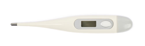 Digital plastic thermometer isolated Stock Photos