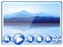 Digital Player with landscape Stock Photography
